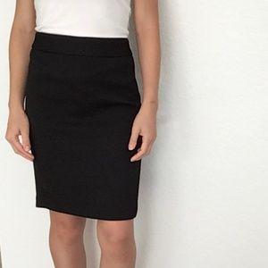 Banana Republic Textured Black Pencil Skirt Size 0